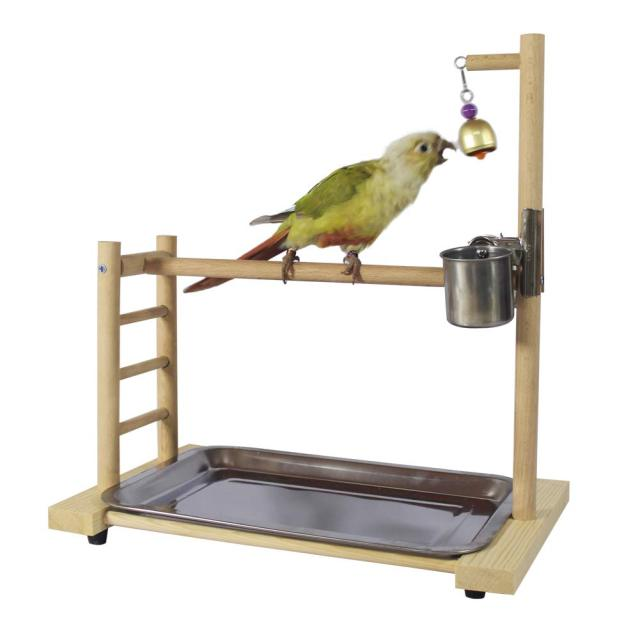 Birdcage Stands Parrot Play Gym Wood Conure Playground Bird Cage Stands Accessories Birdhouse Decor Table Top PlayStand