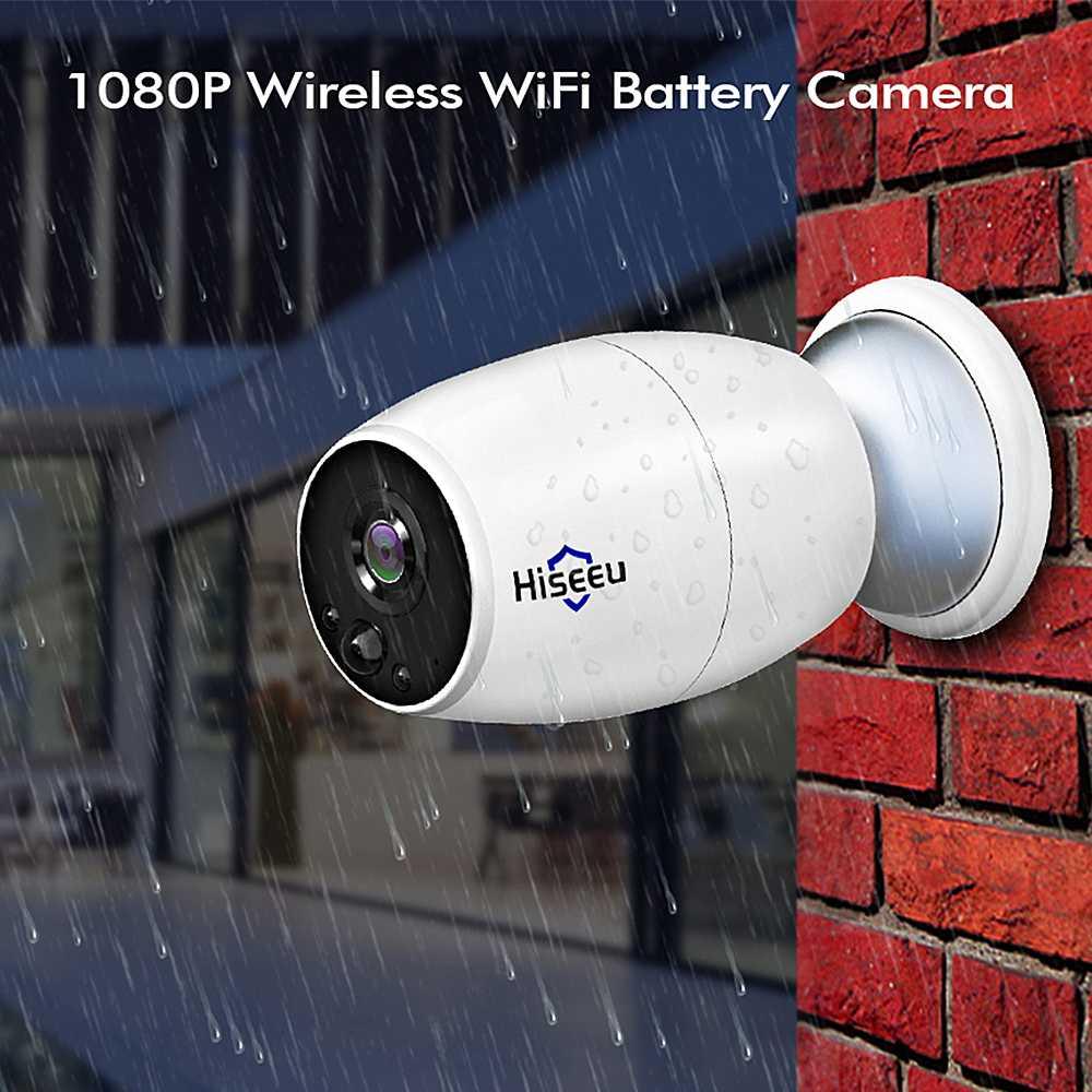 Hiseeu 1080 P Full HD sans fil WiFi IP caméra vidéo batterie Rechargeable extérieure intérieure étanche Surveillance caméra de sécurité