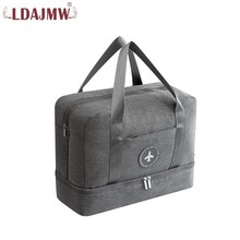 User-friendly Design For Men And Women Dry And Wet Separation Multi-function Large Capacity Solid Color Waterproof Travel Bag