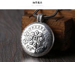 Image 4 - NEUE! 100% 990 silber Tibetischen Sechs Worte Gau kasten anhänger Echt Reine Silber Buddhistischen Marici Buddha Statue Gebet Box Anhänger Vajra