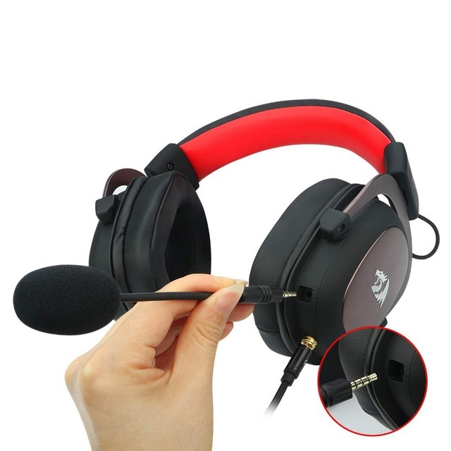 7.1 Surround-Sound Headset Redragon H510 Zeus Wired Gaming Headphone Gamer With Detachable Microphone For PC,PS4,Xbox One,Switch 4