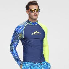 SBART New Diving One-piece Suits Men Long Sleeve Prevented Bask Surf Bathing Suit Snorkeling Prevent Jellyfish Wetsuit bathers