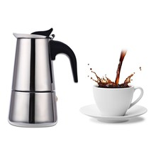 Stainless Steel Pot Moka Coffee Filter Italian Espresso Latte Percolator Stove Maker Drink Tool