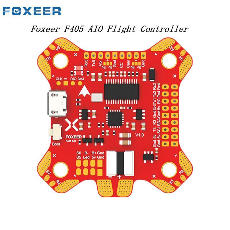Foxeer F405 AIO Controllore di Volo Betaflight OSD F4 Bordo Per FPV Da Corsa Drone Controllore di Volo Per FPV Freestyle Drone
