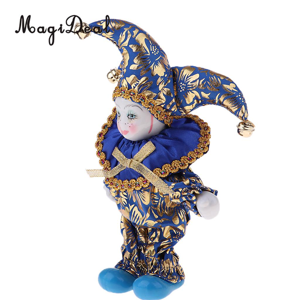 16cm Pretty Italian Porcelain Triangel Doll in Colorful Clothes Home Decoration 1