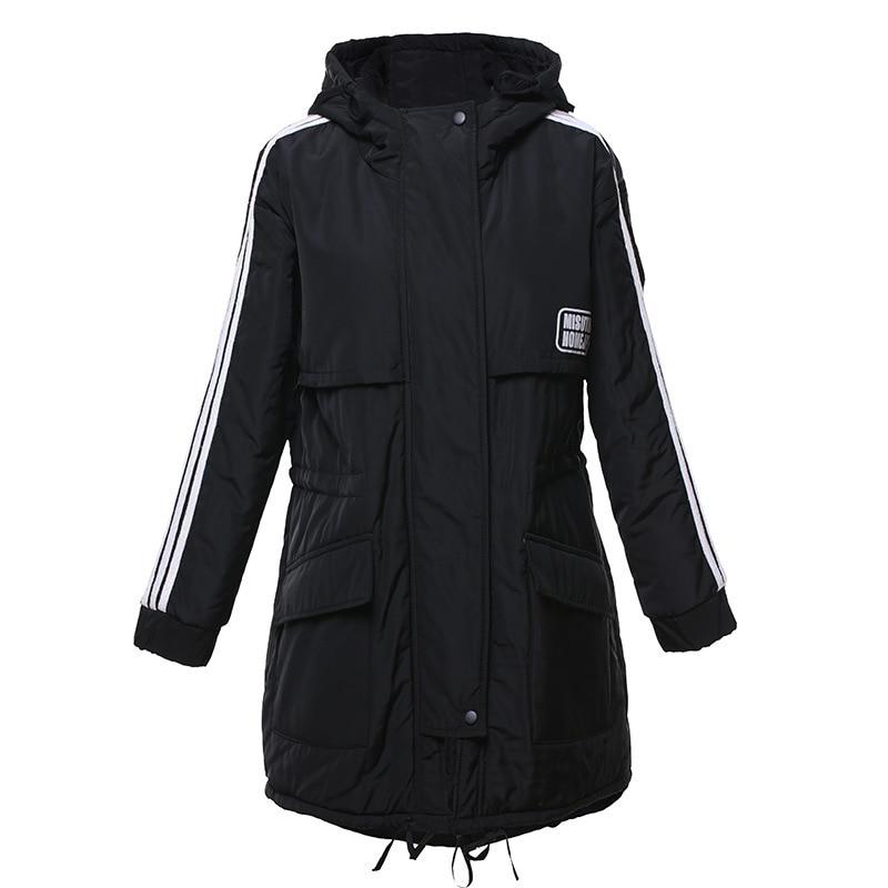 Jacket vert O8r2 Nouveaux Lâche Marque Vêtements Qualité Hiver Mode Manteau Coton Vestes Noir Épais De Supérieure Femmes 2018 Vente Pour dT01xqTHw