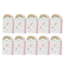 10 шт./лот, крафт-бумага, подарок с Unicorn, сумки, упаковочные принадлежности, сумки для сладостей и конфет, вечерние, свадебные украшения