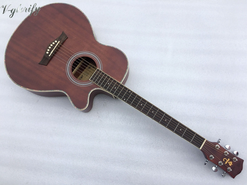 good quality full mahogany wood 40 inch acoustic guitargood quality full mahogany wood 40 inch acoustic guitar