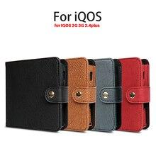 Кожаные ПУ сумки для IQOS 2G 3g 2,4 Plus складной бумажник Мягкий сенсорный черный коричневый цвета защитный чехол