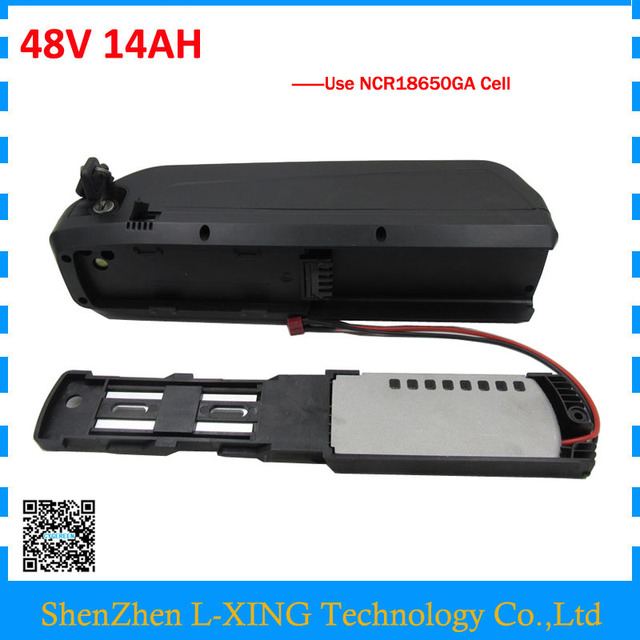 1000W Powerful 48V 14Ah hailong lithium battery pack for 48 V electric bike use sanyo 18650GA 3500mah cells FREE customs fee