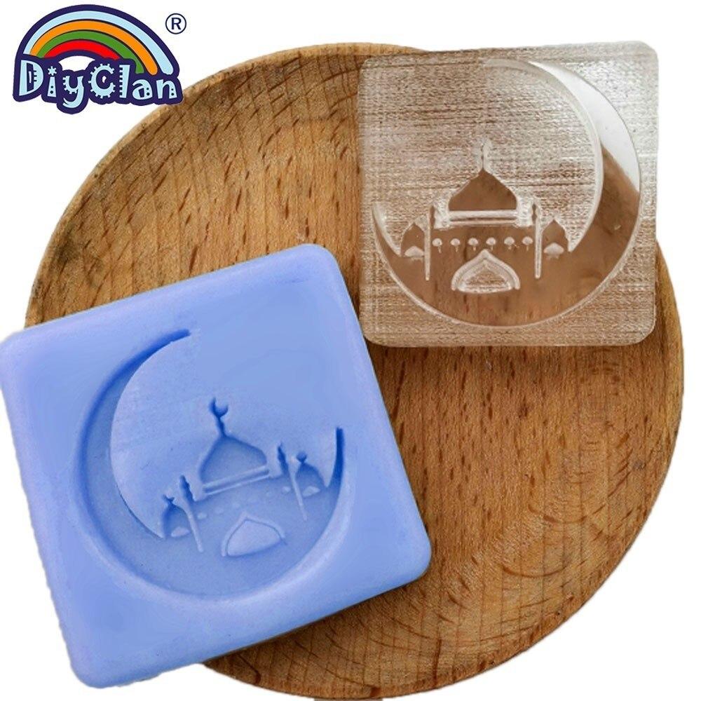 Image 5 - Ислам Рамадан мыльный штамп Diy Ручная работа мусульманское  арабское здание прозрачный мыльный штамп для Рамазана креативный подарок  изготовлениеШтампики