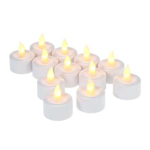 Image 3 - Velas parpadeantes LED recargables, luces de velas en Tealight de llama con tazas esmeriladas, Base de carga, luz amarilla, 4/6/12 unidades