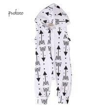 Pudcoco/ брендовый комбинезон без рукавов для новорожденных мальчиков и девочек
