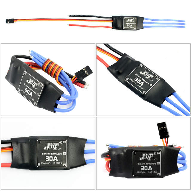 US $4 42 14% OFF|JMT 30A Brushless ESC Speed Controller For DIY FPV RC  Quadcopter Hexacopter Multi Rotor Aircraft Trex 450 Helicopter + FS-in  Parts &