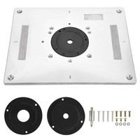 Multi functional Aluminum Router Table Insert Plate Trimmer Engraving Machine Woodworking Bench Router Plate