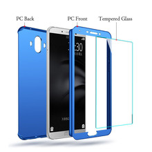Screen Protector Phone Case For Huawei Mate 9 10 Pro SE 360 Tempered Glass Full Cover For Huawei Nova 3 3i 3E Lenn(China)