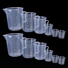 6 размеров, пластиковые прозрачные мерные кувшины с ручкой, удобный носик, дизайн, мерный стакан, кувшин для кухни, прочные принадлежности для инструментов