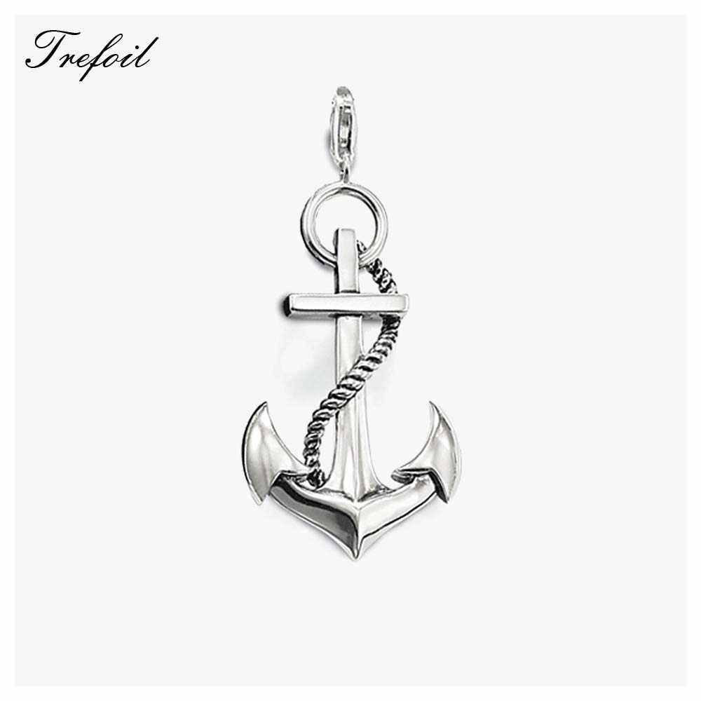Anker подвески в виде якоря, модные ювелирные изделия из 925 пробы серебра, модный подарок для женщин, мужчин, девушек, подходящие ожерелья, новинка 2018