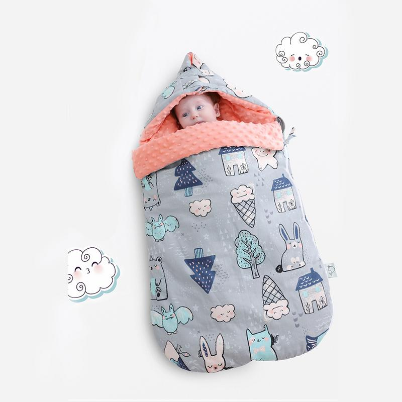 Infant Sleeping Bag Baby Cute Organic Swaddling Blankets Sleepwear Robes Warm Infant Knitted Sleeping Bag Bedding Accessories