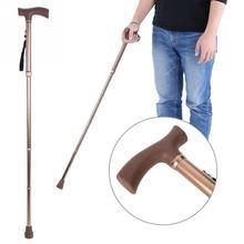 Складная телескопическая складная тростниковая костыль направляющая слепой тростниковый костыль бронзовая Регулируемая длина для мам пожилых отцов