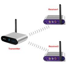 measy av540 5.8GHz Wireless Audio Video Sender TV AV WIFI Receiver 500M for DVD player,CCTV Camera,IPTV,DVR VCR Record 1TX to 2R