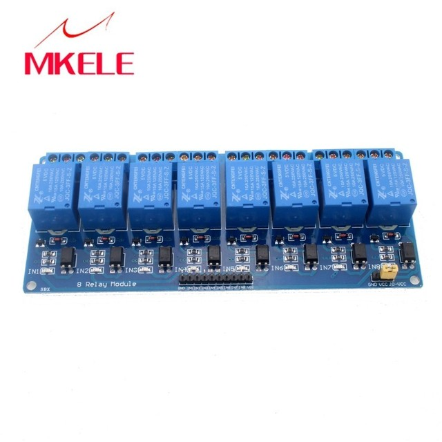 US $5 28 8% OFF|Hot Sale 5V Electronic timer Relay Module 8 Channel Shield  for 51 AVR ARM Logic som automotivo -in Relays from Home Improvement on
