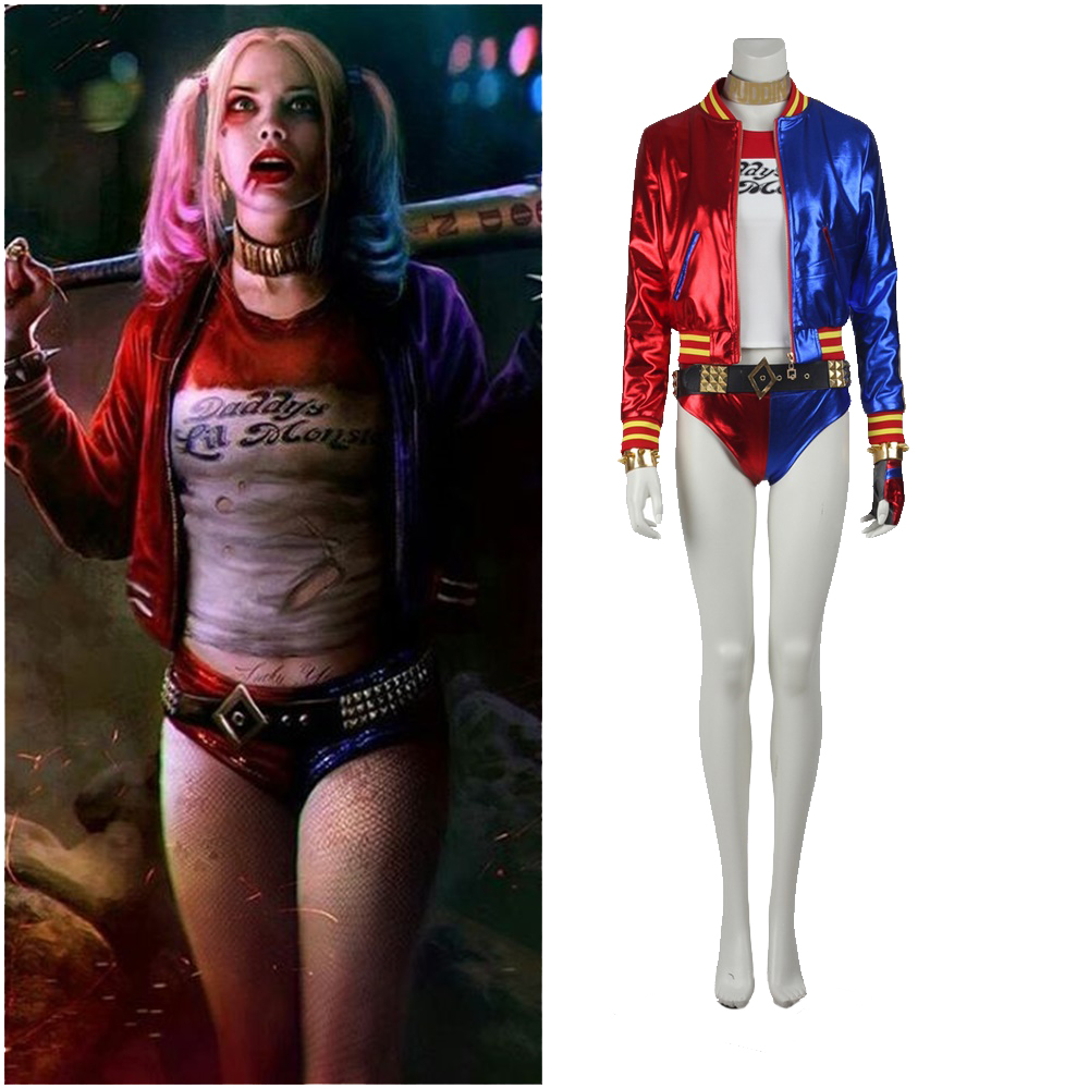 New Suicide Squad Harley Quinn Cosplay Costume Halloween Outfit