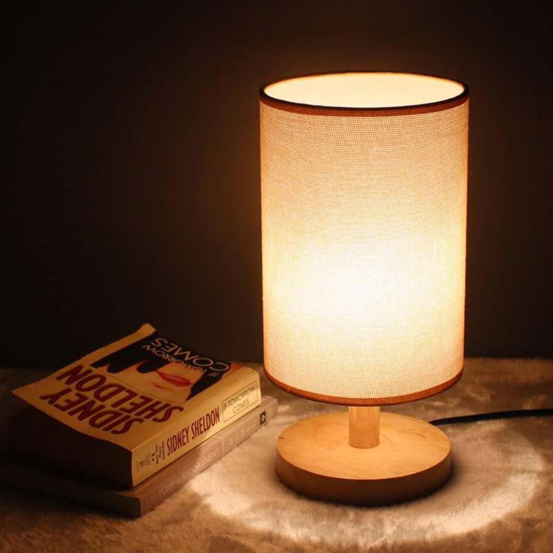 110V-220V Home Decoration Lamp Modern Bedside Table Lamps for Bedroom Indoor Adornment Desk Night Light Base