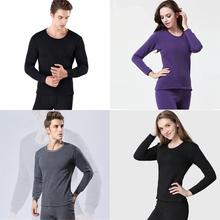 0 neck 2Pcs thermal underwear velvet johns men women warm thick thermo set for male long