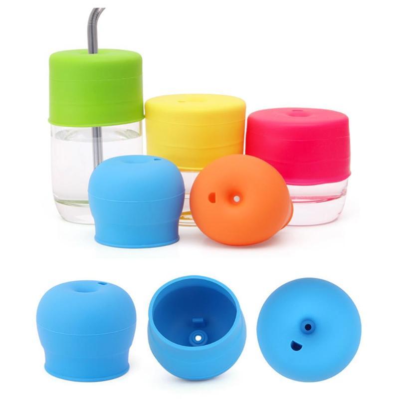 Герметичная крышка для детских чашек, растягивающиеся силиконовые крышки, непроливающаяся стеклянная посуда для детей, крышка для чашки, креативная забота о ребенке