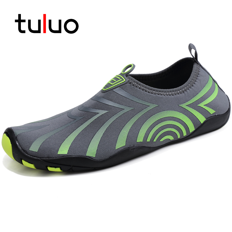 Summer Men/'s Water Shoes Slip on Upstream Shoes Quick Drying Barefoot