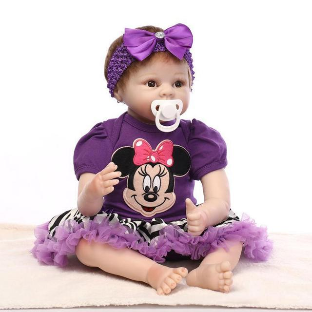 Reborn Baby Toy Soft Silicone Reborn Baby Girl Dolls Play House Toys Child Plamates Role Play Toy Lifelike Simulated Reborn Doll