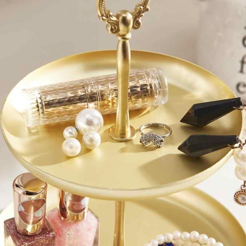 Đôi Đĩa Vàng Nhà Hiên Key Gương Khay Đồ Trang Sức Trang Trí Nhận Được Bảng Hộp Thay Đồ Vòng Cổ Bông Tai Vòng Khay