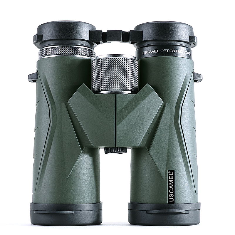USCAMEL 8x42 Compact Binoculars For Bird Watching Bak4 Nitrogen Filled Waterproof Telescope For Travelling Hunting (Army Green)-in Monocular/Binoculars from Sports & Entertainment    2