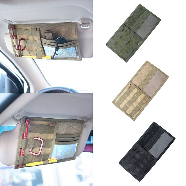 Tactical Molle Pouch Vehicle Visor Panel Multi-Pocket Truck Car Sun Visor  Organizer Cd Bag Molle Pouches Military Accessories 6eb7ed543ce