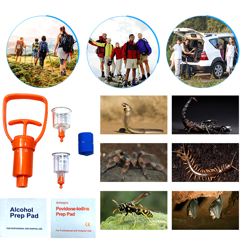 Image 5 - Emergency Venom Extractor Pump Portable Practical First Aid Kit Supplies For Travel Camping Safety Anti Snake Bite Protector-in Safety & Survival from Sports & Entertainment