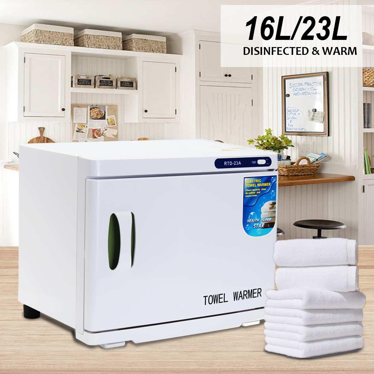 UV Light Electric Towel Warmer Towel Disinfection Cabinet Sterilizer Facial Salon Spa Towel Machine Hot Towel Cabinet 23L AU/US