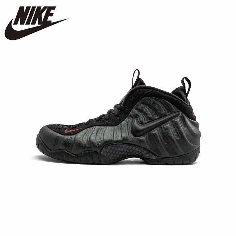 Nike Air Foamposite Pro nouveauté Original Imioio vert noirâtre armée bulle chaussures de course chaussures confortables #624041-304