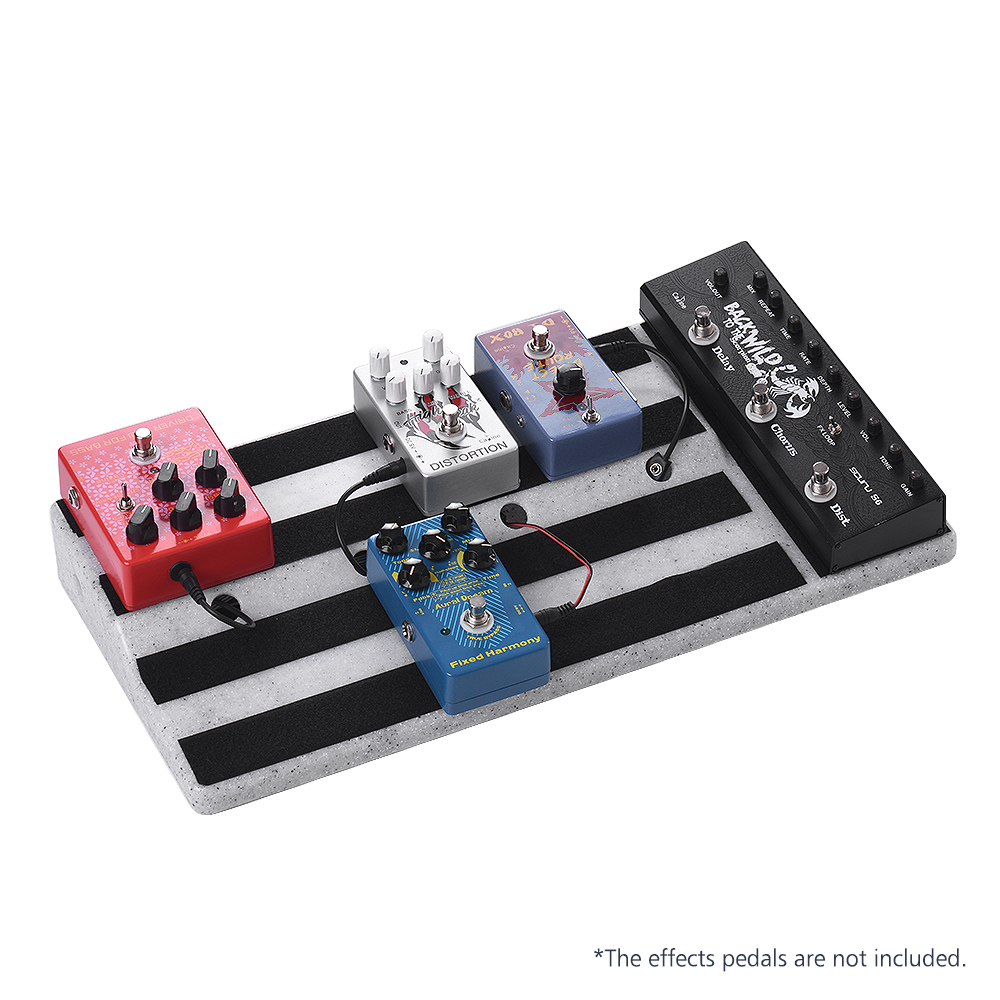 Big Size Guitar Effects Pedal Board Sturdy PE Plastic Guitar Pedalboard Case with Sticking Tape for