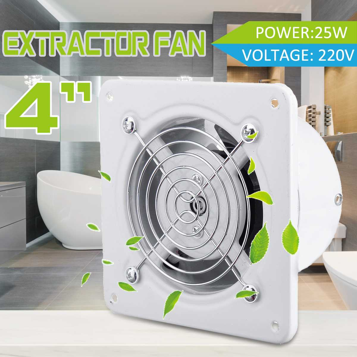 Ventilation Fan 6 Bathroom Toilet Wall Ceiling Extractor Fan With Timer Colour Gold 150mm
