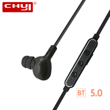 CHYI Bluetooth Earphone Wireless BT 5.0 IPX4 Stereo Sport In-ear Headset Noiseless Accoustic Earbuds For IOS Iphone Smart Phone