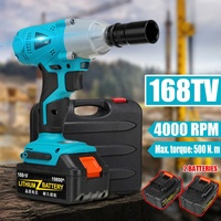 19800mAh All in one Electric Wrench Brushless Cordless Impact Wrench 1/2'' Compact Driver Socket Li ion 2 Batteries Power Tools