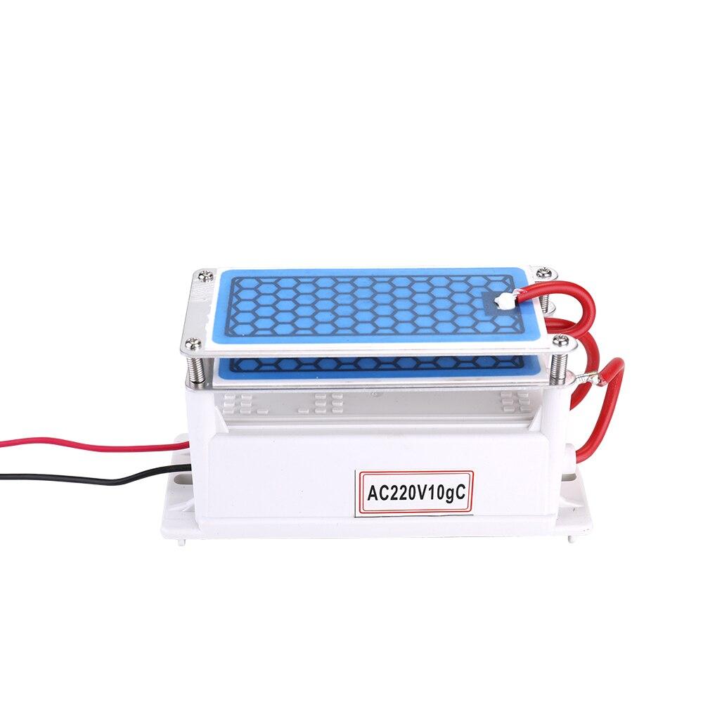 Tragbare Keramik Ozon Generator 220 v 10g Doppel Integrierte Lange Lebensdauer Keramik Platte Ozonisator Luft Wasser Luftreiniger