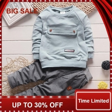 2018 Children Clothing 2pcs sets Coat+pants Fashion letter baby Boy Kid Autumn Winter Suit Fall Cotton sport tracksuit цены онлайн
