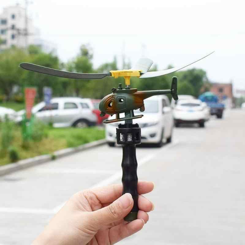 Aviação Modelo Crianças Brinquedos Handle Pull Avião Aviação Helicóptero Engraçado Brinquedos Para As Crianças Do Bebê Jogo Do Presente Modelo de Aeronave Helicóptero