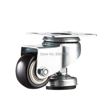 1.5 inch 2 inch medium light duty low gravity caster and Adjusting universal casters 2 double bearing medium duty black radlamelle furniture universal caster durable pu castors sofa casters chair fast pulley