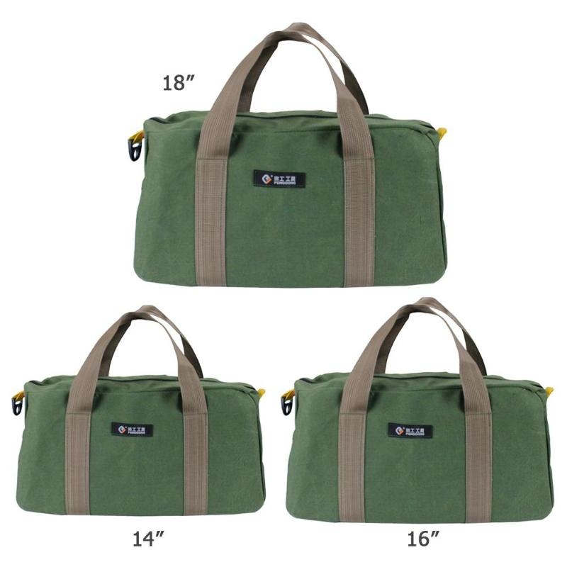 Waterproof Canvas Storage Hand Tool Bag Wrenches Screwdrivers Pliers Metal Hardware Parts Storage Bags Organizer Pouch Bag Case