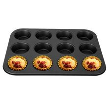 12 Cups Baking Mold Non Stick Cake Biscuit Dish Tray Cupcake