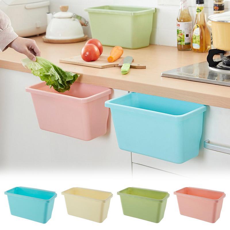 US $4.76 31% OFF Kitchen Trash Bin Cabinet Door Hanging Trash Bin  Innovative Table Top Trash Can Plastic Large Trash Container Storage Box-in  Waste ...