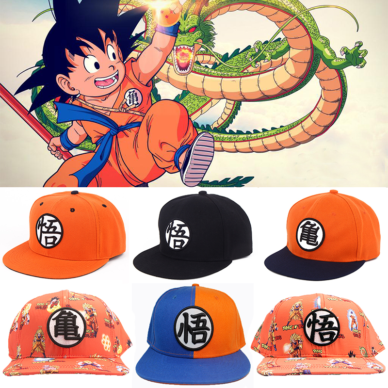 High quality Dragon ball Z Goku baseball hat Snapback Flat Hip Hop caps Casual baseball Anime cosplay cap